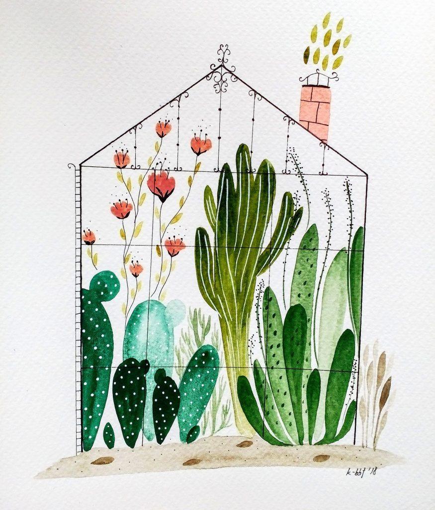 Come purificare casa con le piante - illustrato by Kristina Kemenikova